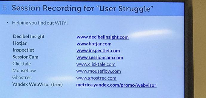 Dispositifs de recherche utilisateurs