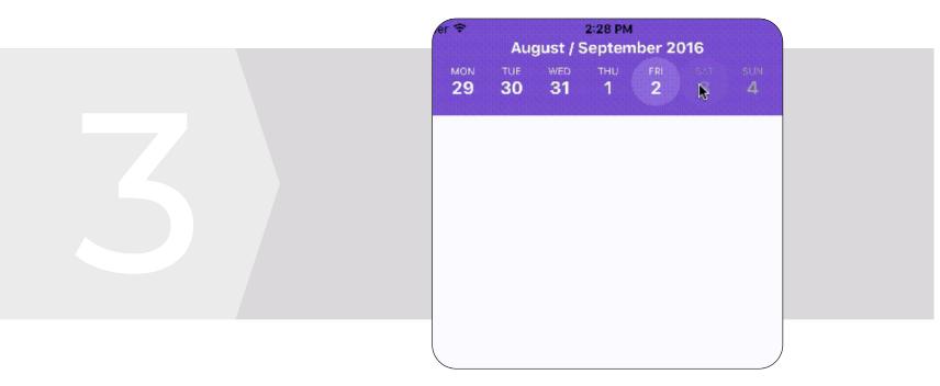 React Native calendar strip