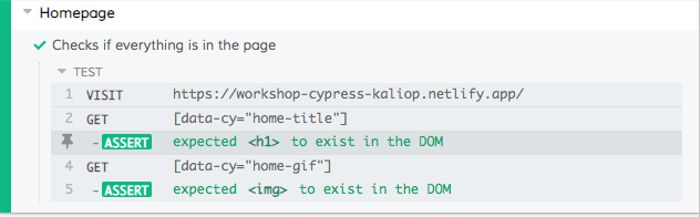 Interface Cypress.js