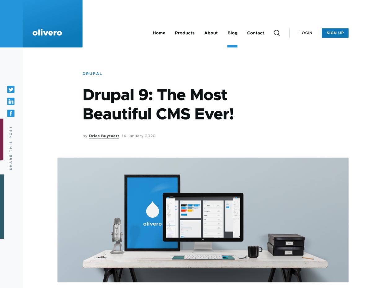 Drupal 9 comme CMS efficace