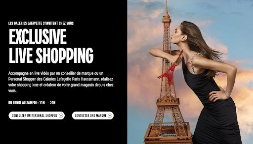 L'exclusive life shopping proposé par les Galeries Lafayettes