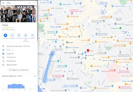 Google Maps avec Google my Business