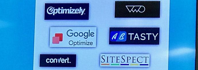 Exemples d'outils utilisés pour les tests AB