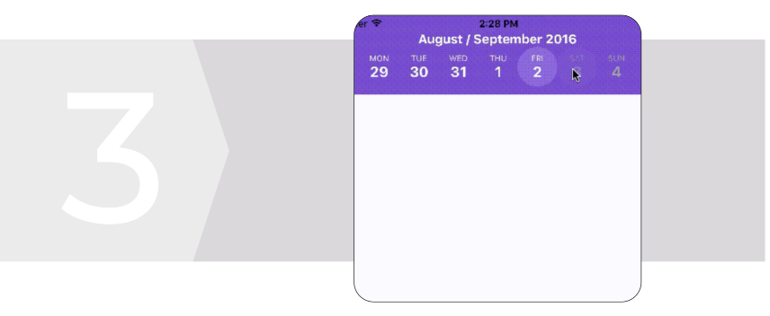 React Native calendar strip