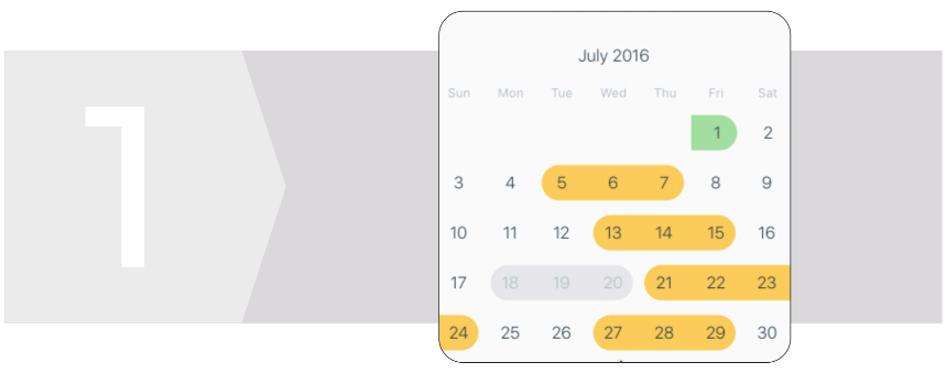 React Native Calendar Components