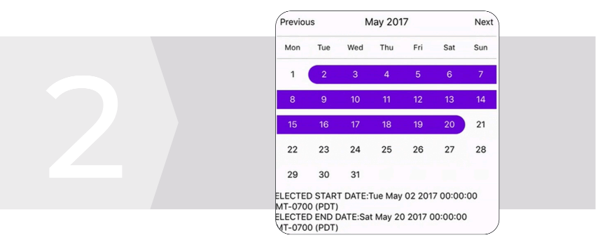 CalendarPicker Component for React Native