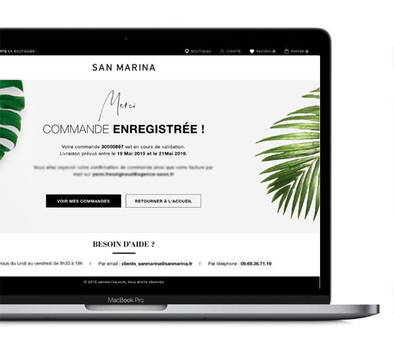San Marina, une refonte ui du site