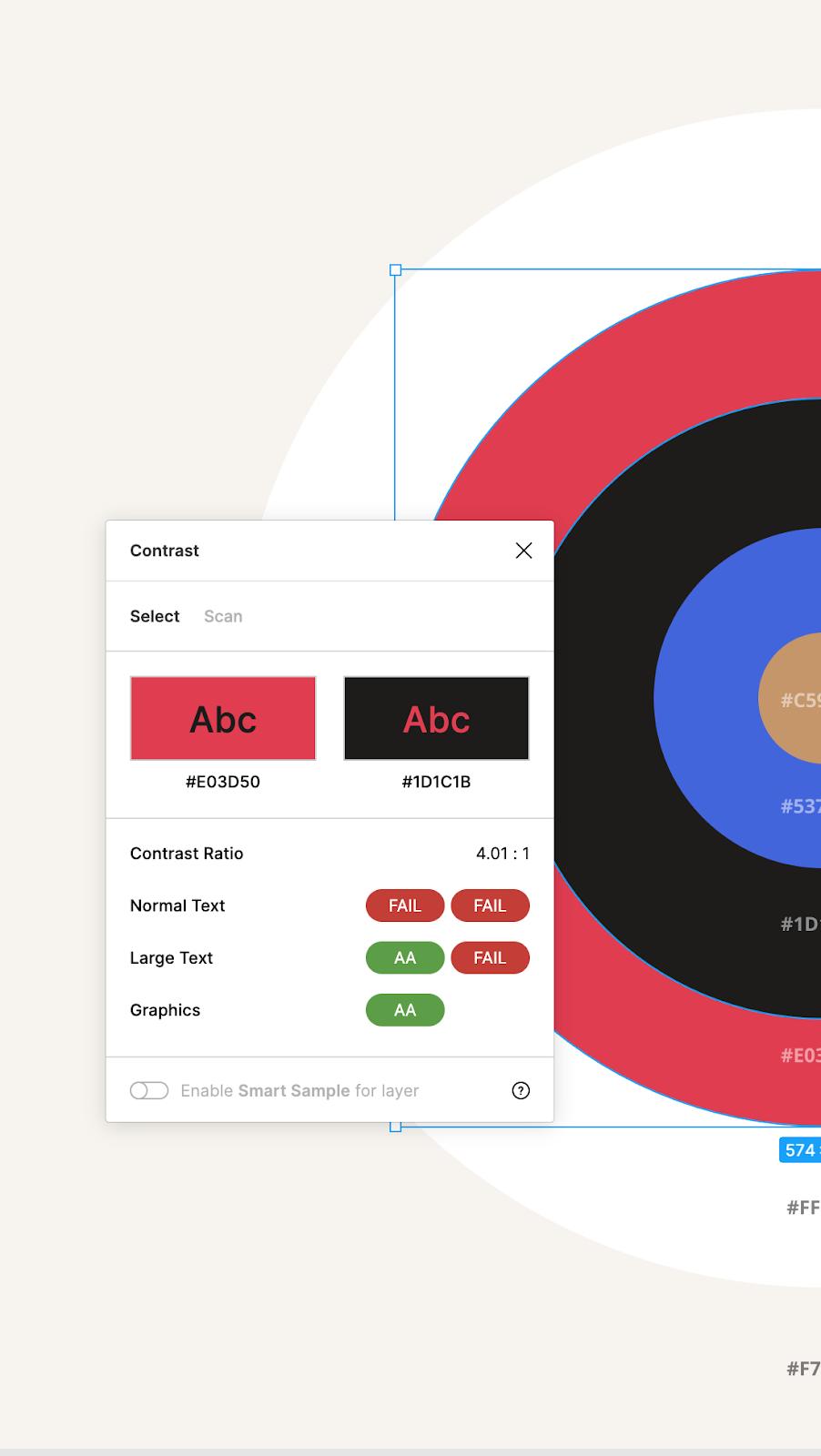 le contrôle des contrastes sur Figma pour assurer l'accessibilité web