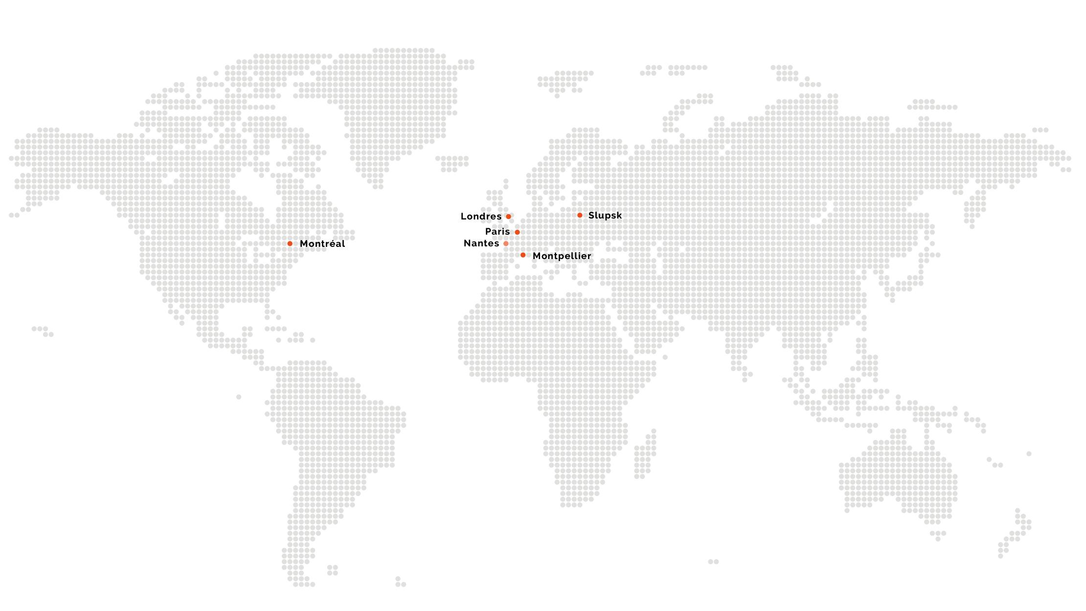 carte des agences Kaliop