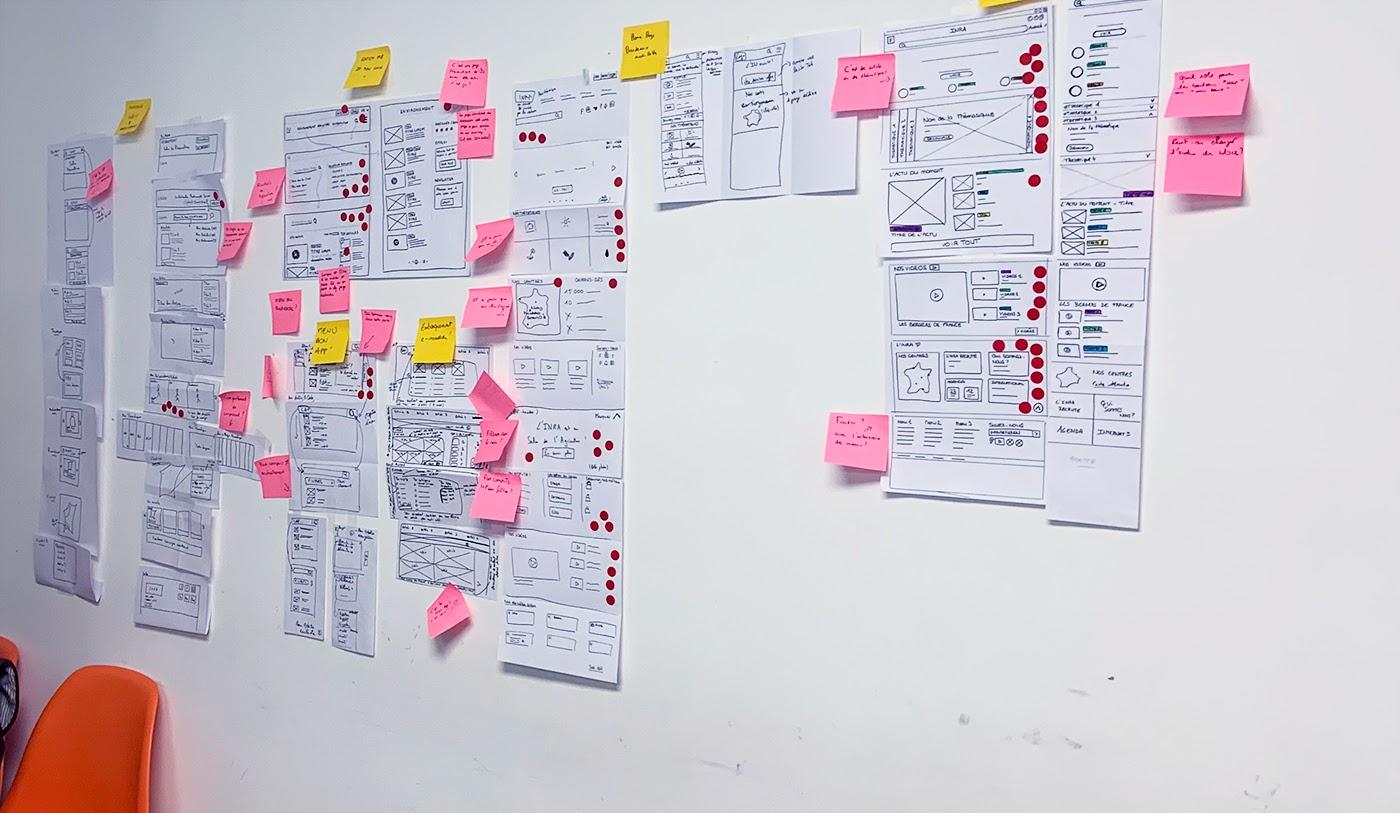 Fin du design sprint et présentation du storyboard